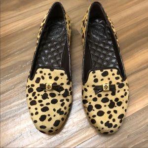 Tory Burch Leopard Flats Size 7. Excellent